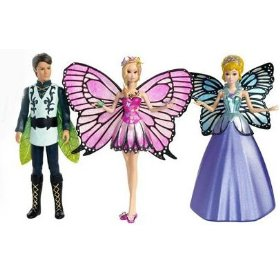 Barbie Mariposa Mini Dolls Gift Pack with Mariposa, the Prince and the Queen Doll Set