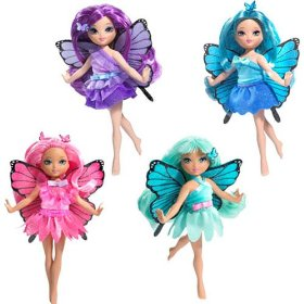 Barbie Mariposa Fluttering Fairy (4) Dolls with Swappable Fashions