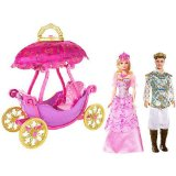 Barbie and the Three Musketeers Balloon Carriage with two dolls